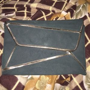 Hunter Green Envelope Clutch